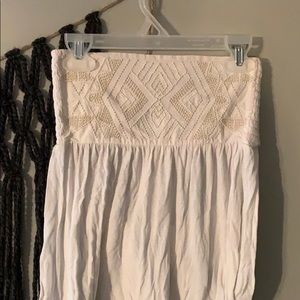 White beaded tube top from American Eagle